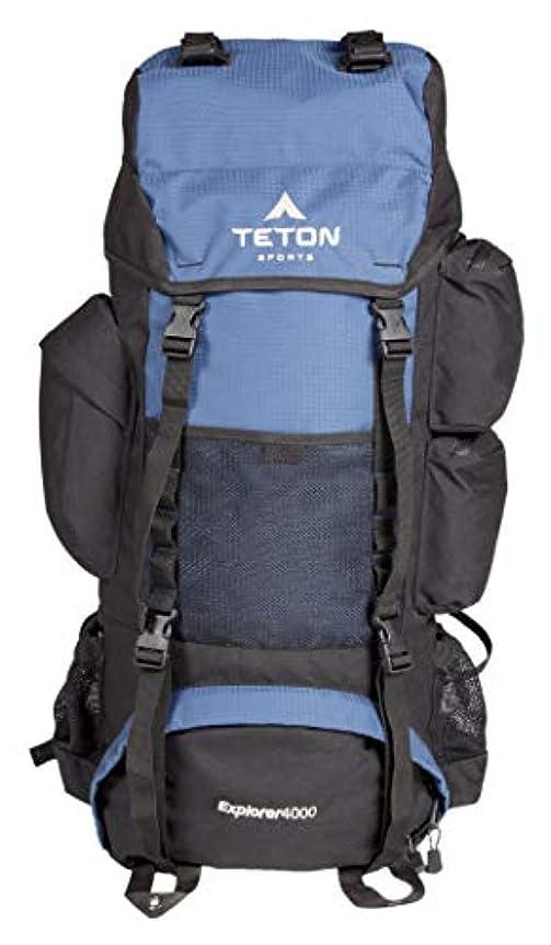 凍る品ドロップTETON Sports Explorer 4000 Internal Frame Backpack; High-Performance Backpack for Backpacking, Hiking, Camping; Navy Blue [並行輸入品]