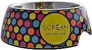 SCREAM Round Pet Bowl, Multicolour