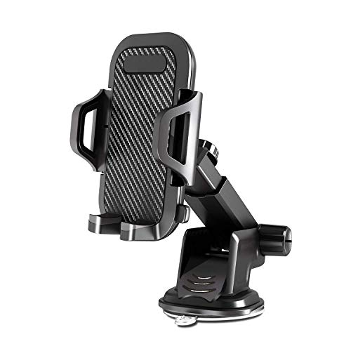 VANMASS スマホ 車載ホルダー 車 スマホホルダー スマホスタンド 車載スタンド 吸盤式 ワンタッチリリース 取り付け簡単 360度回転 伸縮アーム 自由調節 iPhone Xs Max XR X 8 7 6 Galaxy S8 S9 LG G6 V20など多機種対応 超安定