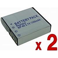 【バッテリー2個 + DC73充電器 セット 】 CASIO NP-40 互換 バッテリー 2個 + BC-30L 汎用 充電器 EXILIM EX-Z1200 EX-FC150 EX-Z450 EX-Z400 EX-Z1000 等 対応