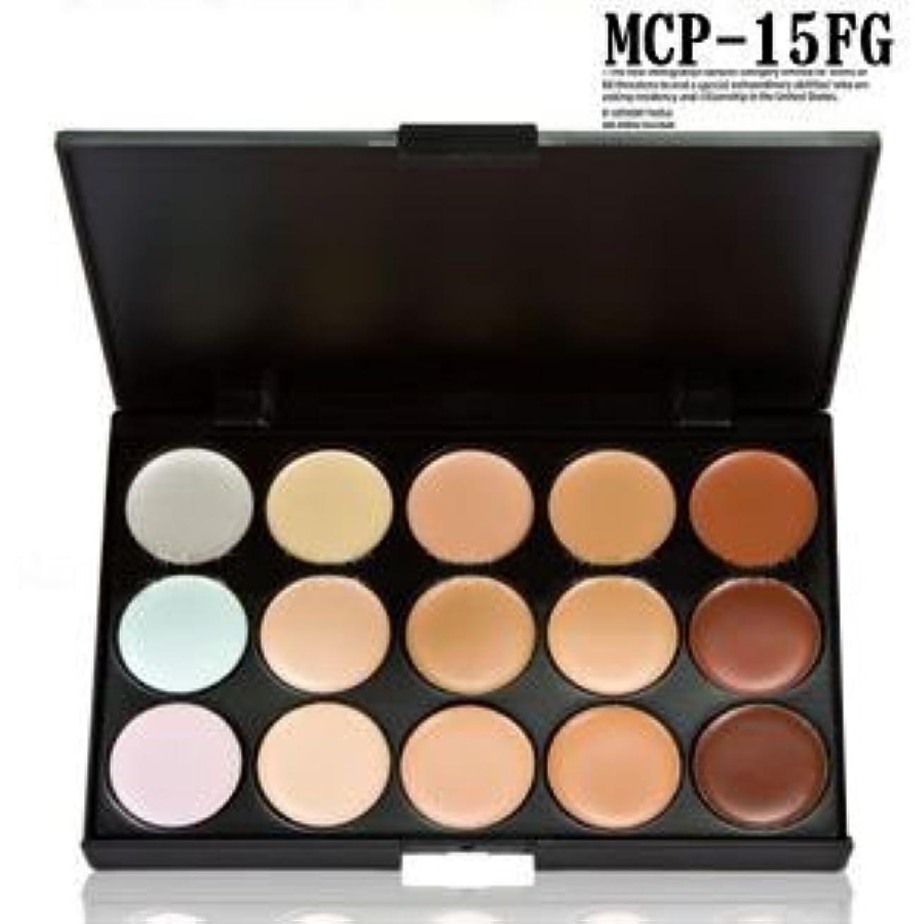 有効な良心的メンタルプロ用コンシーラーパレット メイクパレット15色入り、アイズパレット MCP-15FG