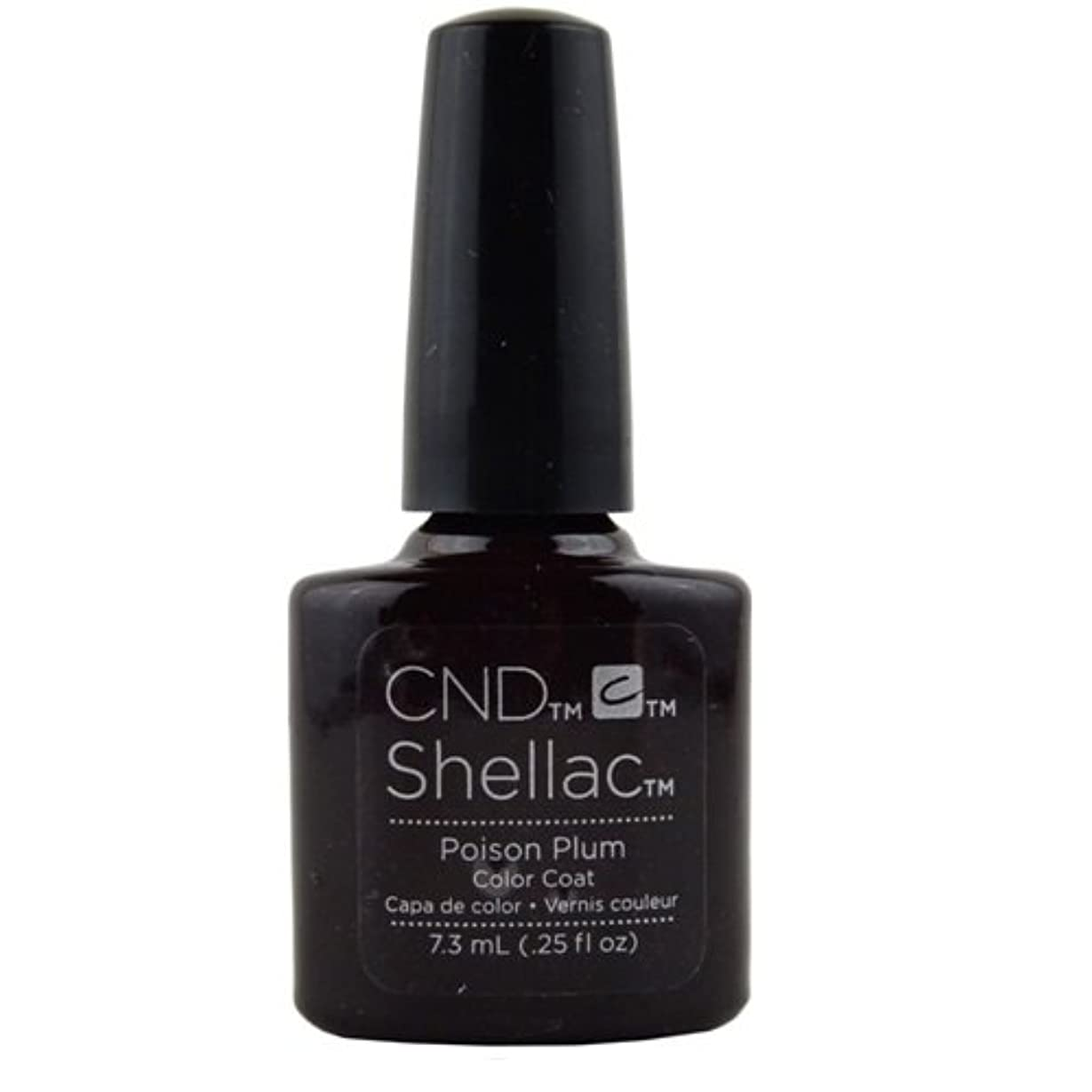 予算使い込む幸福CND Shellac Gel Polish - Poison Plum - 0.25oz / 7.3ml