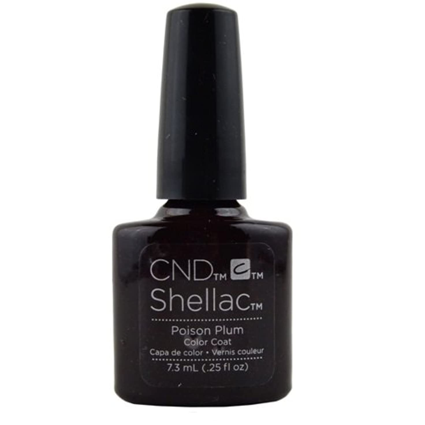 行列部族対応CND Shellac Gel Polish - Poison Plum - 0.25oz / 7.3ml