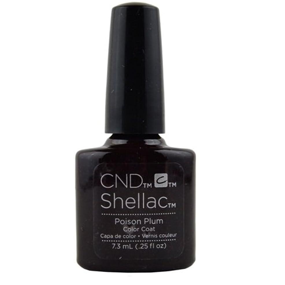 所得考慮要求CND Shellac Gel Polish - Poison Plum - 0.25oz / 7.3ml