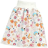 Lgraka Children's Diaper Skirt Shorts 2 in 1, Comfy Waterproof and Absorbent Bloomers Leak-Proof High Waist Belly-Protecting Cartoon Pants for Baby Toddler