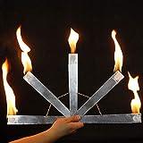 Fire Fan / ファイアファン 扇子セット 1トーチが5トーチに変わる オート点火装置 燃えるマジックファイア扇子 ファイアファンが消えてピジョン現れ 効果絶大 アピアリング/ディスアピアリング マジック ステージマジック道具 手品の道具