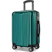 VARNIC スーツケース キャリーバッグ キャリーケース 機内持込 超軽量 大型 静音 ダブルキャスター 耐衝撃 360度回転 TSAローク搭載 ファスナー式 旅行 ビジネス 出張 人気色【永久保証】(7色3サイズ対応) (M サイズ(65L), 緑)