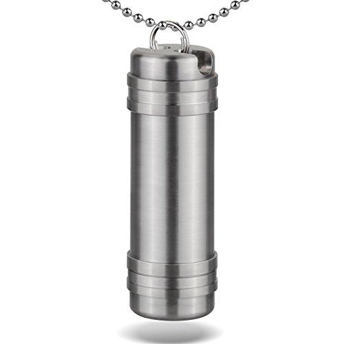 TISUR (Ti) チタン合金 筒型 携帯型ピルケース キ...