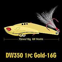 のスプーンメタル1個取り組むゴールド/シルバーカラー釣りのルアー11.5-16.5-21.5g fishing6-7-7.5cm釣りルアー:16G