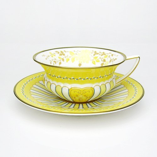 Wedgwood (ウェッジウッド) ハーレクイン イエローリボン ティーカップ&ソーサー【並行輸入品】