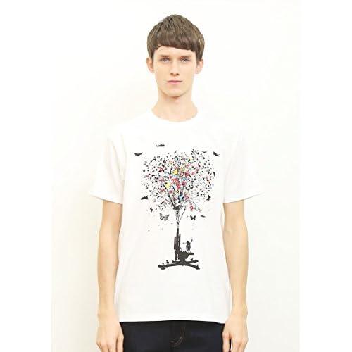 ( グラニフ ) graniph ベーシック Tシャツ / ピースフルフラワー ( ホワイト ) M