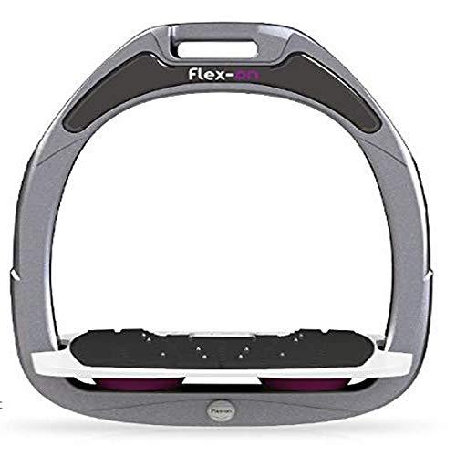 【Amazon.co.jp 限定】フレクソン(Flex-On) 鐙 グリーンコンポジットレンジ Mixed ultra-grip フレームカラー: シルバー グレー フットベッドカラー: ホワイト エラストマー: プラム 27529