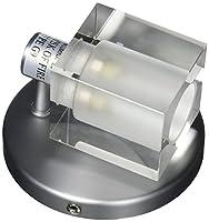 Jesco照明ws292キューブ1ライトAda準拠壁取り付け用燭台with Glass Square Sh、 Watt: 40 クリア WS292-CR 1
