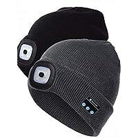 Thefound Fashion Warm Beanie Bluetooth LED Hat Wireless Smart Cap Headset Headphone Speaker