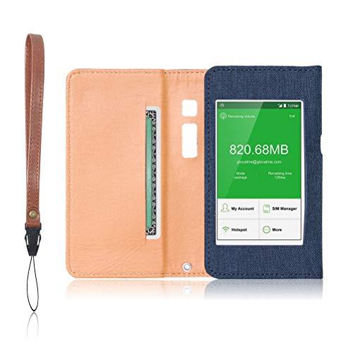 GlocalMe G3 専用 モバイルルーター ケース 保護フィルム 付 (ネイビー)