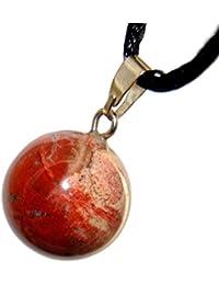 Celestialコレクション – 12 mm月球ボールレッドジャスパー、20