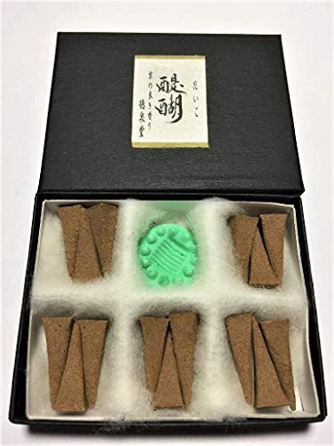 検出器属するカウントアップ醍醐(だいご)15ケ入り 天然材料のみで作ったお香 化学物質、無添加のお香