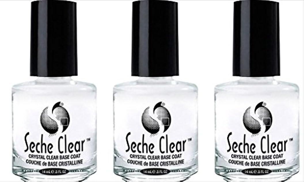 従来のバウンド通知する(3 Pack) SECHE Crystal Clear Base Coat (並行輸入品)