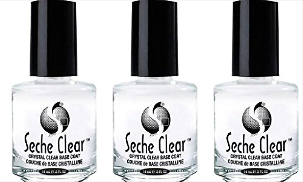 移動アプライアンスピカリング(3 Pack) SECHE Crystal Clear Base Coat (並行輸入品)