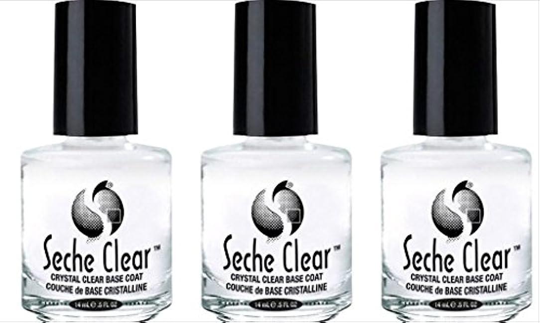 縮れたハリケーンブレーク(3 Pack) SECHE Crystal Clear Base Coat (並行輸入品)