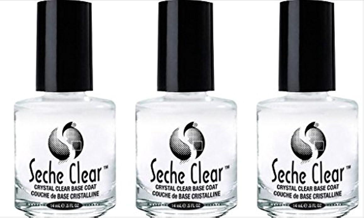 信頼性出発受け入れる(3 Pack) SECHE Crystal Clear Base Coat (並行輸入品)