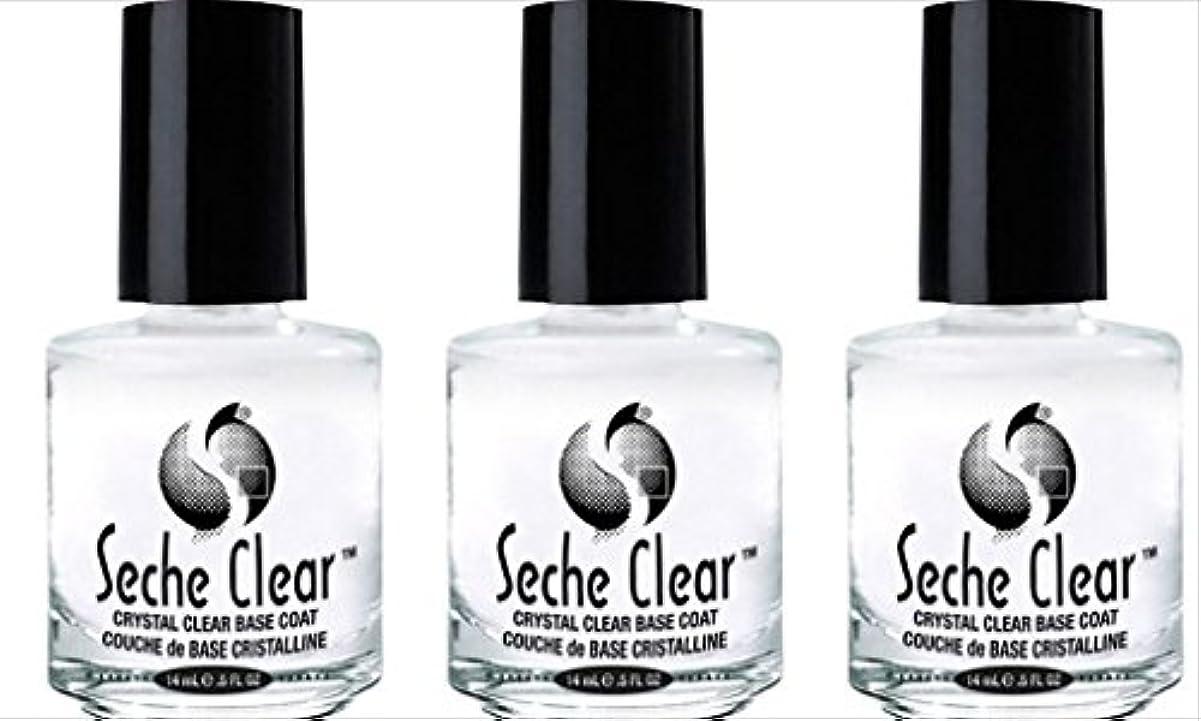 クローンその結果なかなか(3 Pack) SECHE Crystal Clear Base Coat (並行輸入品)