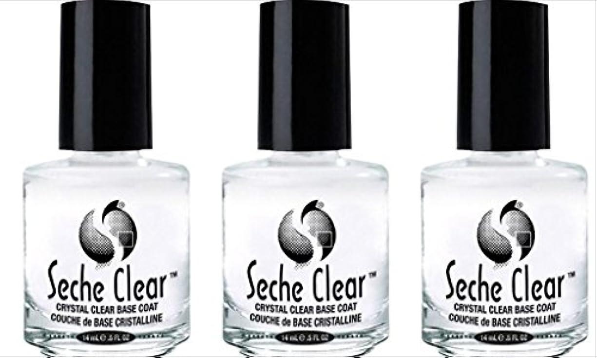 浸したインスタンスレキシコン(3 Pack) SECHE Crystal Clear Base Coat (並行輸入品)