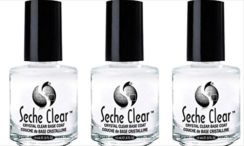 アスリート起訴するバター(3 Pack) SECHE Crystal Clear Base Coat (並行輸入品)