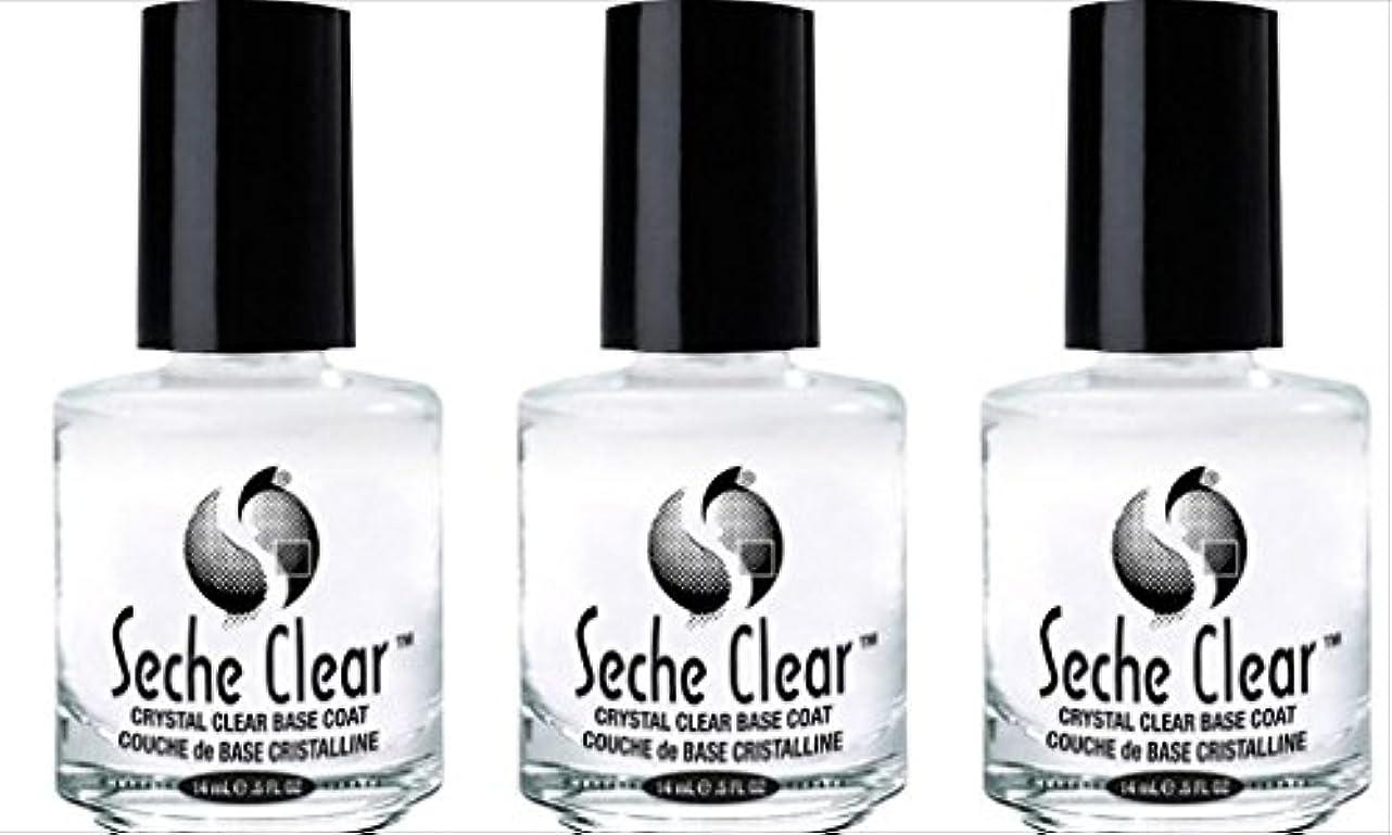 犯罪ディレクトリ地平線(3 Pack) SECHE Crystal Clear Base Coat (並行輸入品)