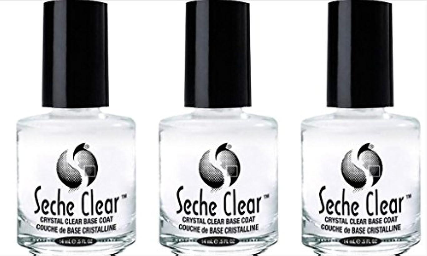 神経障害起訴するフェミニン(3 Pack) SECHE Crystal Clear Base Coat (並行輸入品)