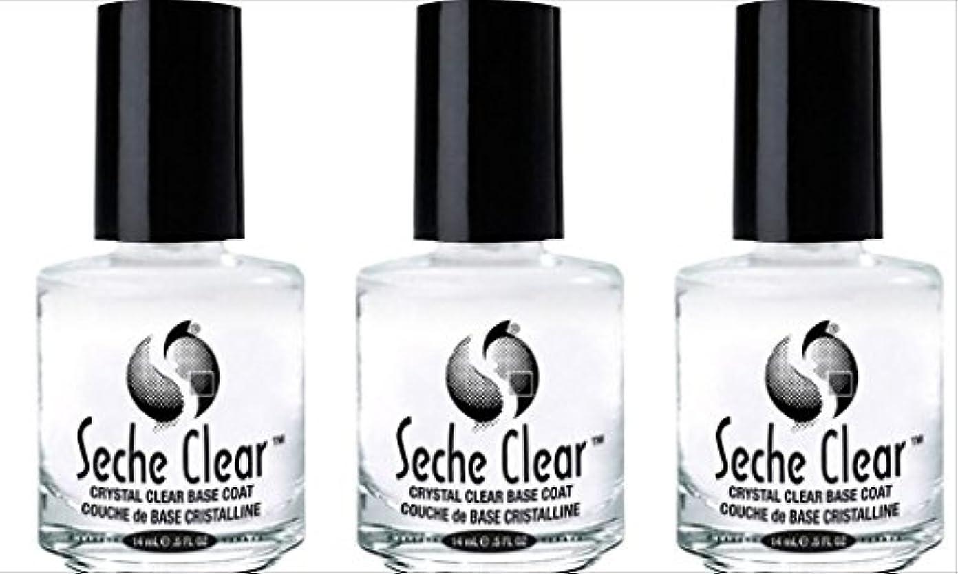 許可どこにでもラッドヤードキップリング(3 Pack) SECHE Crystal Clear Base Coat (並行輸入品)