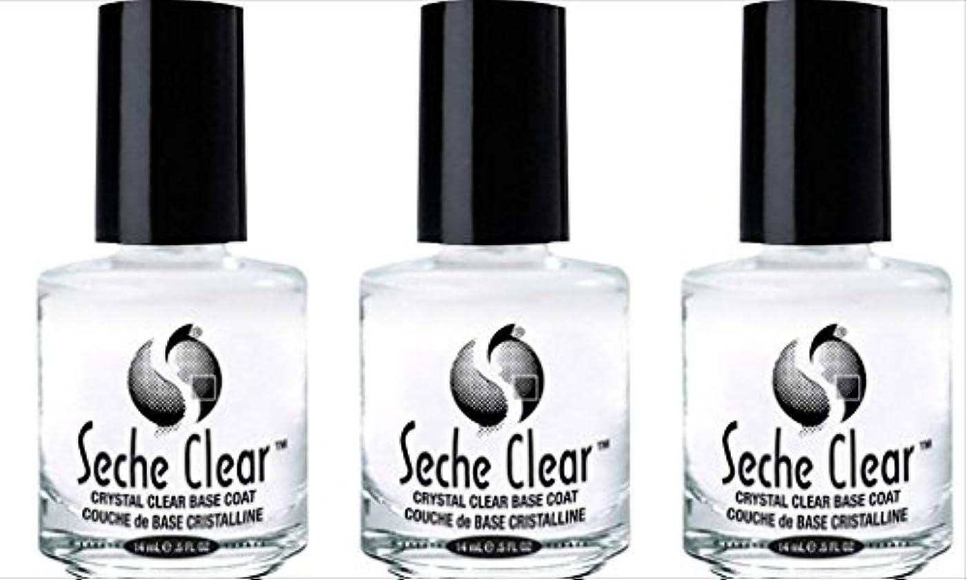 韓国万一に備えてまとめる(3 Pack) SECHE Crystal Clear Base Coat (並行輸入品)