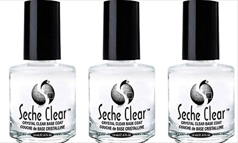 社会受け取る誤解(3 Pack) SECHE Crystal Clear Base Coat (並行輸入品)