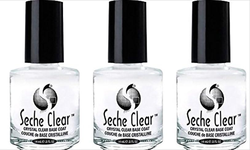 感覚所属不透明な(3 Pack) SECHE Crystal Clear Base Coat (並行輸入品)