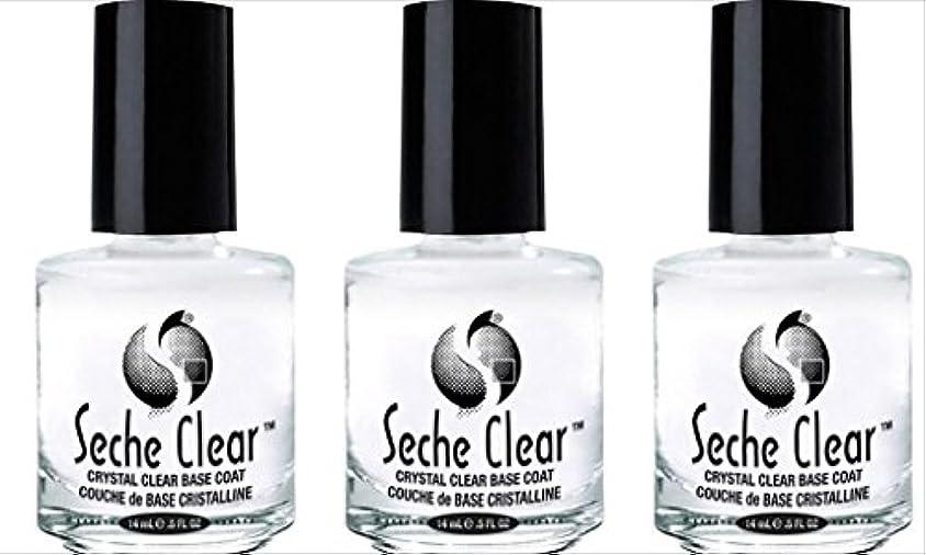 しおれた間違い正しく(3 Pack) SECHE Crystal Clear Base Coat (並行輸入品)