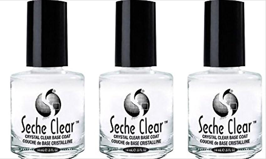 小説家驚ペデスタル(3 Pack) SECHE Crystal Clear Base Coat (並行輸入品)