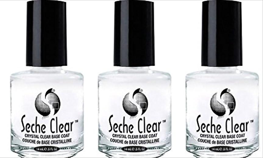 パノラマ人種レイア(3 Pack) SECHE Crystal Clear Base Coat (並行輸入品)