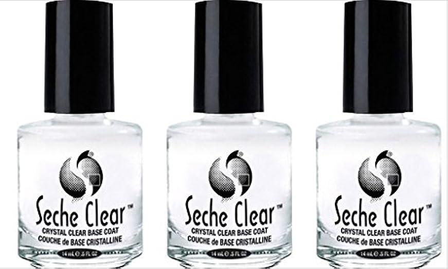 英語の授業があります絶えず請求(3 Pack) SECHE Crystal Clear Base Coat (並行輸入品)