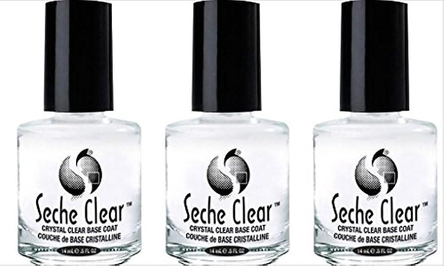 社会科軽食アーチ(3 Pack) SECHE Crystal Clear Base Coat (並行輸入品)