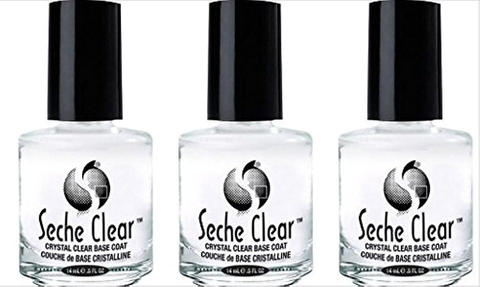 粘液呼ぶ明らかに(3 Pack) SECHE Crystal Clear Base Coat (並行輸入品)