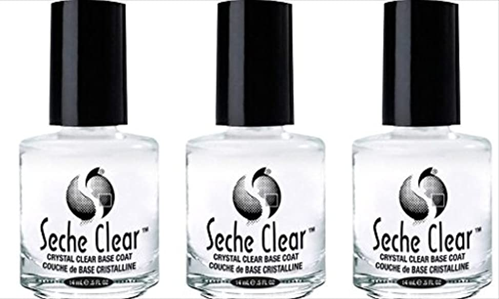 (3 Pack) SECHE Crystal Clear Base Coat (並行輸入品)