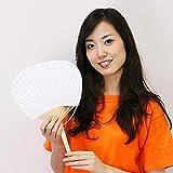 竹骨団扇[うちわ](100本) 白  1090