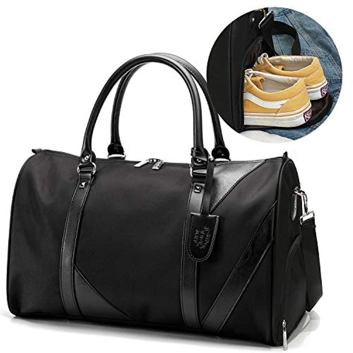 とティーム出発モニカ[TcIFE]ボストンバッグ レディース メンズ スポーツダッフルバッグ ガーメントバッグ 大容量 修学 旅行トラベルバッグ シューズ収納バッグ