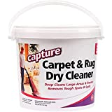 Capture Carpet Dry Cleaner Powder 4 lb - Deodorize Allergens, Stain Smell Moisture from Rug Furniture Clothes and Fabric, Pet