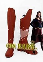 スーパーウーマン Superwoman Supergirl コスプレシューズ Cosplay アニメ コスチューム ブーツ コスプレ靴