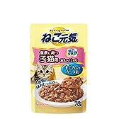 ねこ元気 総合栄養食パウチ 健康に育つ子猫用(離乳から12ヶ月) まぐろ入りかつお 70g×12コ