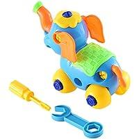早期教育&学習構築ブロッククラシックアセンブリElephantおもちゃキット