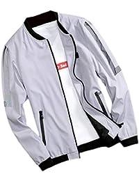 gawaga メンズカジュアルルーズフィットアソートコートカラープラスサイズジップアップジャケット