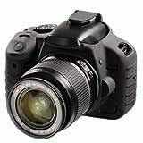 Discovered イージーカバー Canon EOS Kiss X4 カメラカバー 液晶保護フィルム&スクリーンプロテクター付 ブラック X4-BL