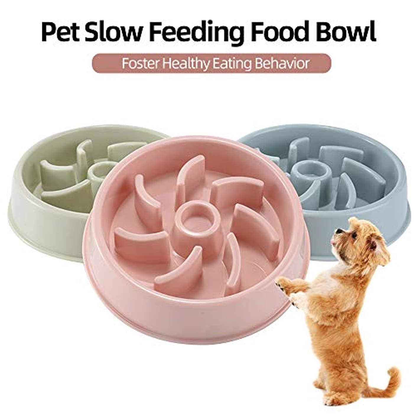 Galapara ペット用食器 早食い?食べ過ぎ?飲み込み防止 ペットボウル フードボウル ダイエット 犬?猫?うさぎ用食器